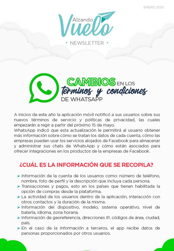 Cambios en los terminos y condiciones de WhatsApp